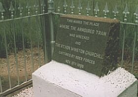 Winston Churchill's train ambush & capture site 15 November 1899